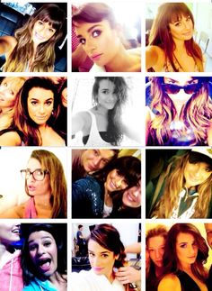 But first let me take a selfie ❤️ haha love it Lea Michele