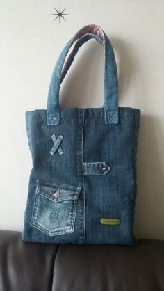 3894 Best Bags images in 2020 Denim Tote Bags, Denim Handbags, Denim Purse, Jean Purses, Diy Bags Purses, Recycled Denim, Handmade Bags, Jeans Fit, Farmer