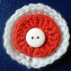 11 listopada #dzieńniepodległości #kotylion #broszka #broche #independenceday #crochet #szydełko #GawraStefana