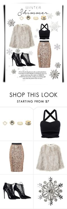 """Holiday Sparkle"" by an-italian-brand ❤ liked on Polyvore featuring Charlotte Russe, French Connection, Topshop and Kim Rogers"