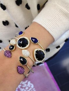 Colorful array of bracelets.