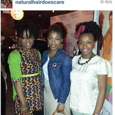 Checkout @stoni129 rockin her Natsupreme button pin while with the dynamic duo @naturalhairdoescare! Thanks for the support!#naturallysupreme#natsupreme#style#naturalhair#fashion