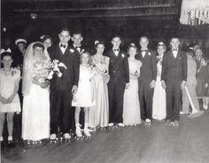 roller skate rink wedding - Google Search