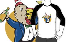 Turkey Celebrating Wine Party Hat Cartoon by patrimonio