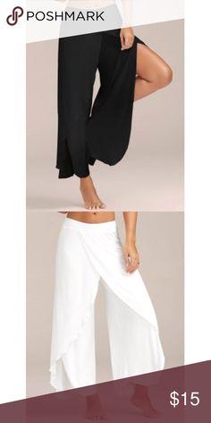 Capri slit in the legs. These are brand new Capri palazzo type pants 24/7 Comfort Apparel Pants Wide Leg