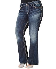Silver Jeans Plus Size Jeans, Suki Surplus Bootcut, Medium Distressed Wash - Plus Size Jeans - Plus Sizes - Macy's