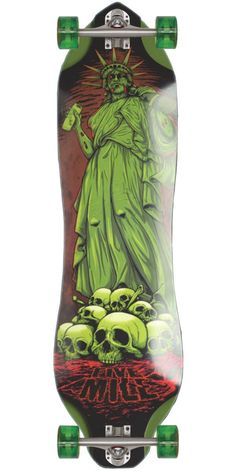 Five Mile Lady Liberty Longboard Skateboard Complete