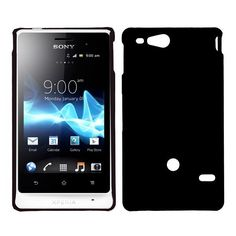 Hard Shell (Sort) Sony Xperia Go Deksel