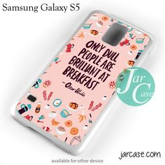 Oscar Wilde Quote YG Phone case for samsung galaxy S3/S4/S5