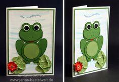 Janas Bastelwelt - Unabhängige Stampin' Up! Demonstratorin: Da ist mir doch glatt ein Frosch ...
