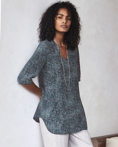 e7697d9dfdd133 Poetry - Printed silk tunic - Cut in a loose and relaxed tunic-style,