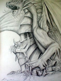 Beowulf ends the dragon time Dragon Time, English Projects, Beowulf, Norse Vikings, Mythological Creatures, Anglo Saxon, Norse Mythology, Cool Art, Sketches