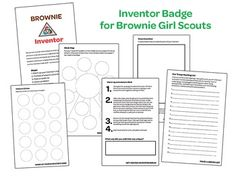 Girl Scout Brownie Inventor Badge Print and Fold Activity Book