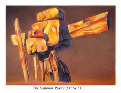 """The Samurai"" Pastel 23"" by 31"""