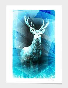 """Synthetic Nature // The Deer"" // Fine Art Print // La Belle Etoile ✨ 💋 #PopArt #Nature #Animal"