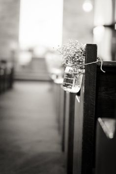 What a budget saver instead of flowers.  I picture this in a little quaint chapel... so classic and simple.