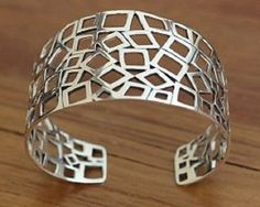Silver Squares Womens Cuff Bracelet (1 LEFT IN STOCK!) now at PinkLion.com #womensAccessories