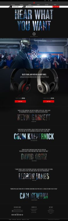 Beats By Dre. Silence the haters. (More design inspiration at www.aldenchong.com) #webdesign