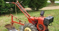 First, our newest homestead acquisition 1967 Simplicity Model W Walking Tractor, once sold by Montgomery Ward. Shown with plow attachme. Walk Behind Tractor, Wood Chip Mulch, Yard Tractors, Rotary Lawn Mower, Best Garden Tools, All Things Work Together, Tractor Attachments, Homestead Farm, Antique Tractors