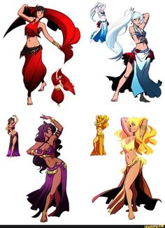 RWBY-Belly Dancers,very charming #rwby #cosplayclass
