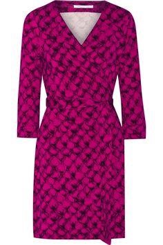 DIANE VON FURSTENBERG New Julian Two Printed Stretch-Jersey Wrap Dress. #dianevonfurstenberg #cloth #dress