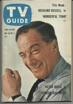 1958 Vintage TV Guide Victor Borge ... it was always a great thrill and tons of laughter when Victor performed.