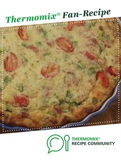 Recipe IMPOSSIBLE QUICHE- NO PASTRY by learn to make this recipe easily in your kitchen machine and discover other Thermomix recipes in Baking - savoury. Cantaloupe Recipes, Radish Recipes, Bisquick Recipes, Quiche Recipes, Quiche Pastry, Impossible Quiche, Cheddarwurst Recipe, Mulberry Recipes, Low Carb Quiche