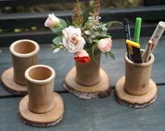 Vas Bunga atau wadah pensil natural