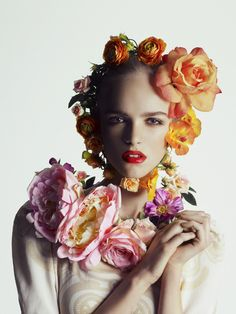 ❀ Flower Maiden Fantasy ❀ beautiful photography of women and flowers - Sigrid Cold by Isa Jacob for Costume Norway