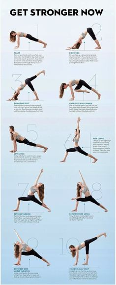 Get Stronger With Yoga exercise yoga health infographics self help health infographics yoga tips yoga ideas yoga infographics