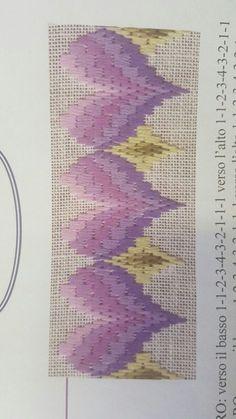ponto reto - toalhabordado bargello o florentino ile ilgili görsel sonucu Broderie Bargello, Bargello Needlepoint, Bargello Quilts, Needlepoint Stitches, Swedish Embroidery, Hardanger Embroidery, Embroidery Stitches, Embroidery Patterns, Hand Embroidery