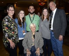 Grace Tucker, co-founder of Tucker Rocky Distributing, and her family at the 2017 Dealer & Brand Expo 50th Anniversary Party
