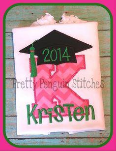 Kindergarten Graduation Shirt by PrettyPenguinStitch on Etsy, $22.00