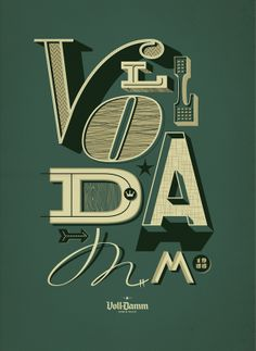 Voll Damm Art direction and designs for the 2012 Barcelona Jazz Festival sponsorship. Client — Villar-Rosás