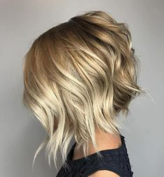 Choppy Angled Blonde Bob