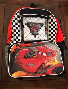 Disney Cars Lightning McQueen Backpack on Mercari Disney Cars Movie, Lightning Mcqueen, Baby Car Seats, Lunch Box, Backpacks, Birthday, Birthdays, Bento Box, Backpack