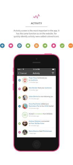 Dribbble — iPhone app design concept by Rami McMin, via Behance