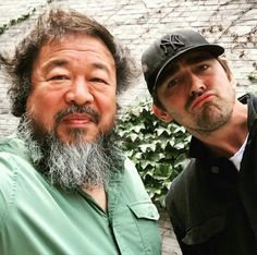 Lee with Chinese contemporary artist, Ai Weiwei (x) Ai Weiwei, Perfect Husband, Pushing Daisies, Lee Pace, Thranduil, Contemporary Artists, Movie Stars, Writer, Handsome