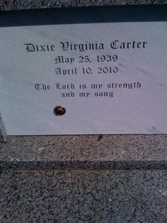 """Dixie Carter (Actress) headstone 1939-2010 was married to Hal Holbrook was most famous for her role on """"Designing Women"""""""