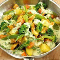 Geflügelpfanne mit Gemüse