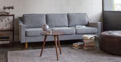 Slope Pebble Gray Sofa - Sofas - Article | Modern, Mid-Century and Scandinavian Furniture