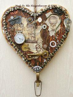 Steampunk heart, made by Alie Hoogenboezem-de Vries