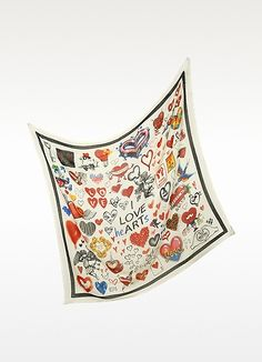 Moschino Cheap and Cheap - I Love Hearts Oversize Wool Blend Wrap I Love Heart, My Heart, Love Is All, Moschino, Wool Blend, Hearts, Gifts, Bags, Accessories
