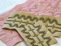 Swedish weaving needlework pieces
