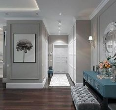 Top 40 Best Crown Molding Lighting Ideas - Modern Interior Designs Discover modern ceiling illuminating inspiration with the top 40 best crown molding lighting ideas. Interior Design Living Room, Modern Interior, Living Design, House Design, Living Room Color, Modern Interior Design, Hallway Designs, Home Decor, House Interior