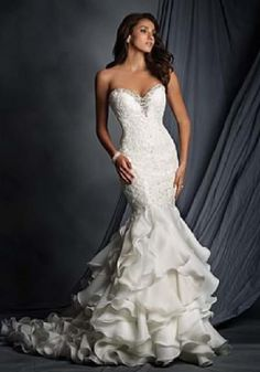 Alfred Angelo Bridal Gown Style 2527 Size 14 White Wedding Dresses Photos 0380e347e819