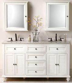 Vanity for the master bathroom. good storage