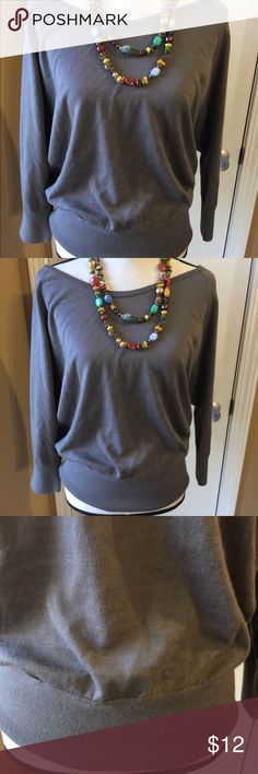 Boat neck top by Ann Taylor Loft Great versatile top with push up sleeves and fitted bottom. Size lg from Ann Taylor. Gently worn. Tops Blouses