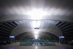 Aankomst op Suvarnabhumi Airport in Bangkok
