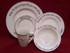 Would love to have a collection of scripture dinnerware and use it at a special women\u0027s & I am totally in love with this dinnerware! Oneday I will buy all the ...
